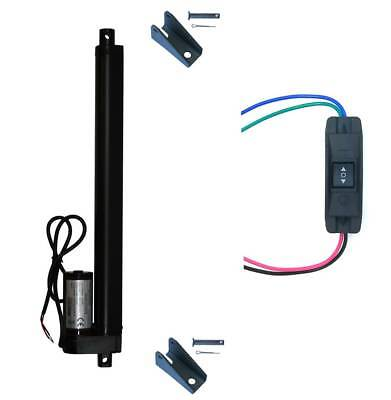 Windynation 12v Linear Actuator Up Down Switch Mounting Brackets 225 Lb Lift