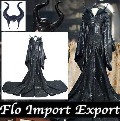 Hexe Kleid Karneval Frau Maleficent Frau Luxus- Kleid Up Cosplay MLF003
