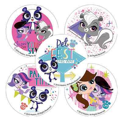 25 Littlest Pet Shop Party Time Stickers, 2.5
