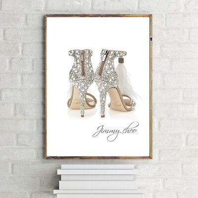 JIMMY CHOO Ostrich Feather SHOES PRINT A4 POSTER/PRINT WALL HANGING 280GSM