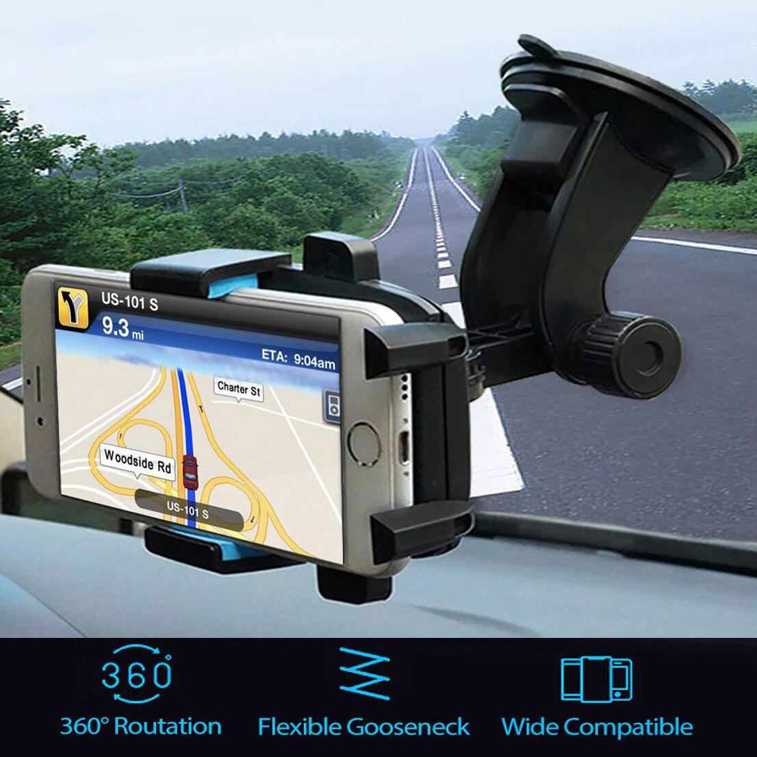360° Car Windshield Mount Holder Bracket Cradle Stand For C