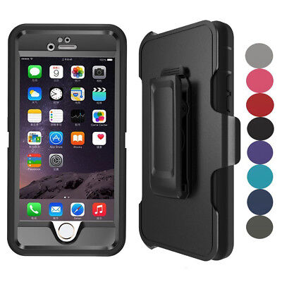 For Apple iPhone 7 8 Plus Defender Case Cover With Screen Protector & Belt Clip