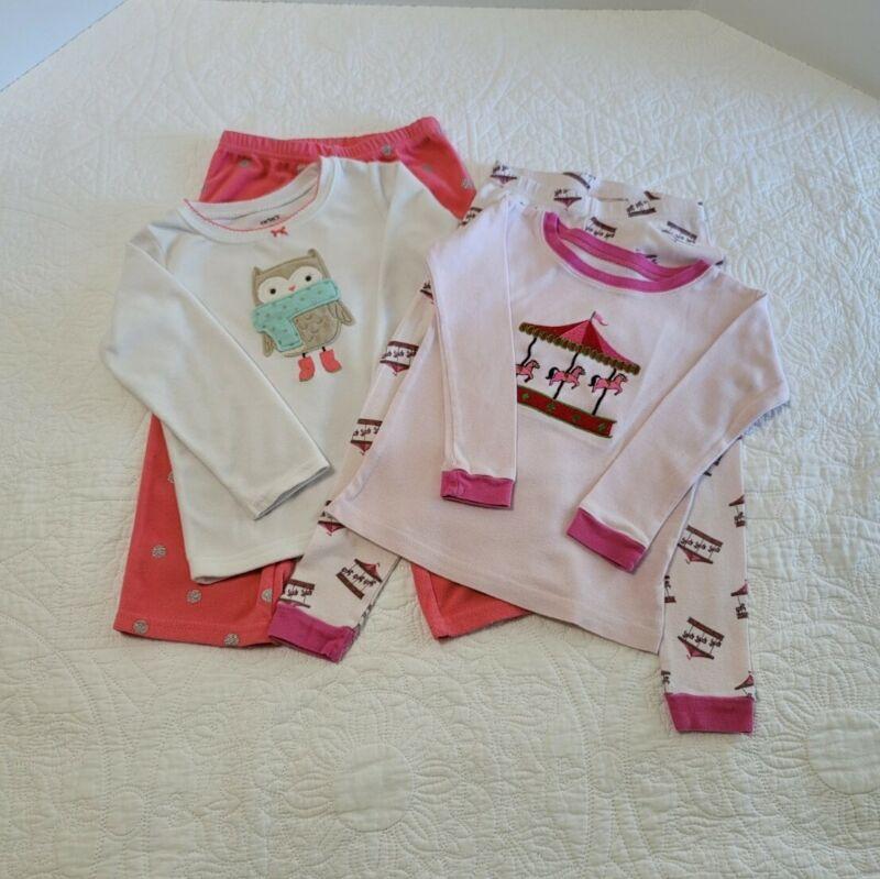 3 Toddler Girls Pajamas set of 2 Carter