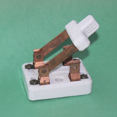 Paulding Double Pole Single Throw Porcelain Knife Switch Marked 25a 125v Dpst