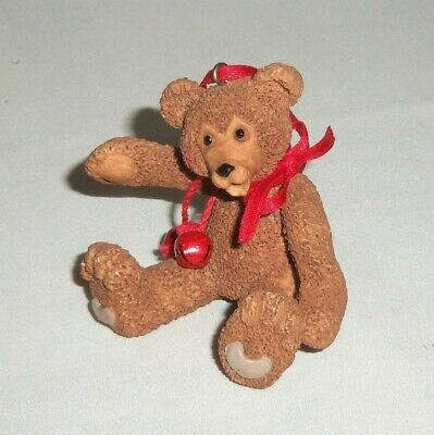 Miniature Brown Teddy Bear Toy Christmas Tree Ornament Figurine ()
