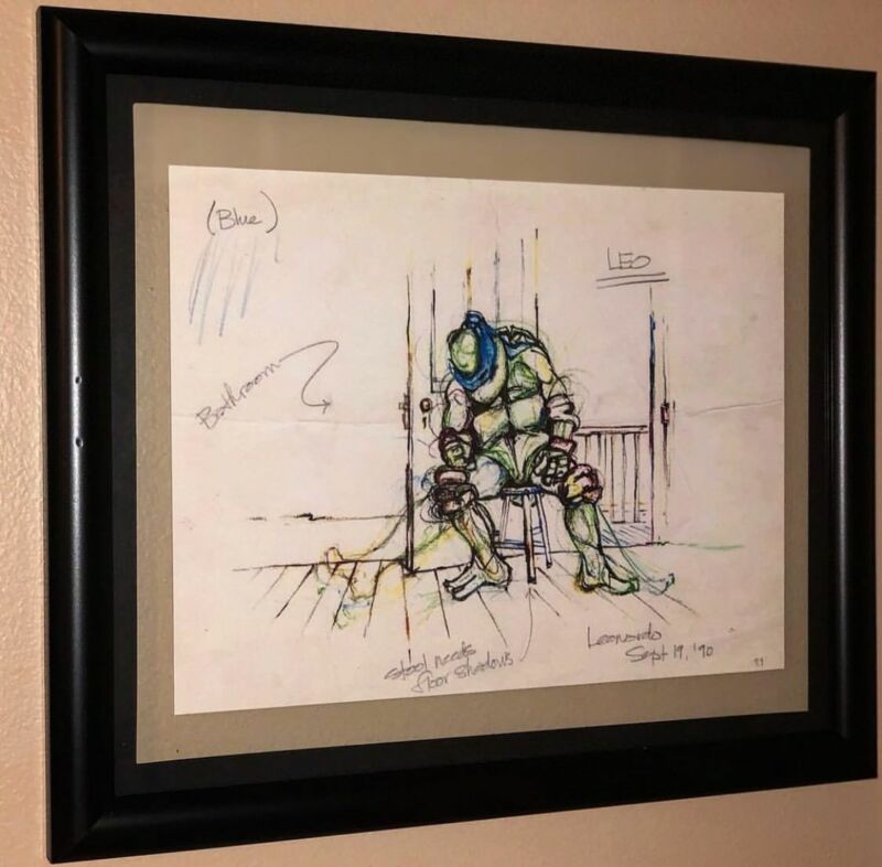 Leonardo Sketch TMNT Teenage Mutant Ninja Turtles High Quality Reproduction Scan