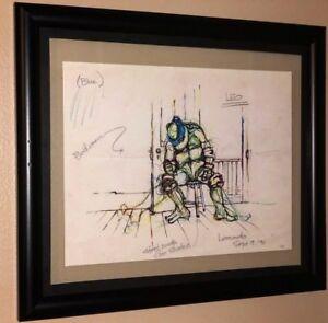 Leonardo Sketch TMNT Teenage Mutant Ninja Turtles High Quality Print !!