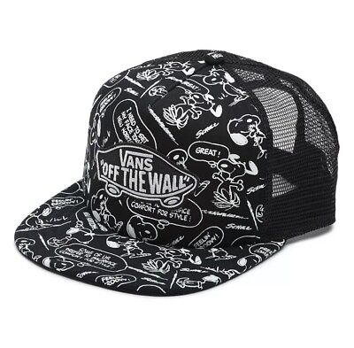 VANS x PEANUTS Snoopy Trucker Snapback Hat Cap Black Limited Edition NEW NWT (Snoopy Hat)