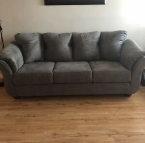 Couch and love seat - Perfect Condition - Fabric Protected