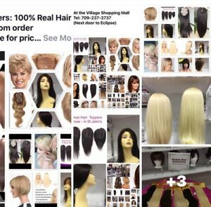 Wigs : Hair Toppers: & Hair Extensions - 100% Real Hair