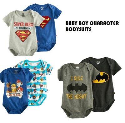 Marvel Baby Shower (NWT Baby Boy Bodysuits Batman, Superman, Paw Patrol Lot of 2 BABY SHOWER)