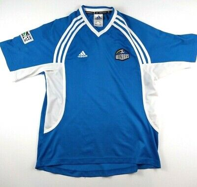 Vintage Adidas Kansas City Wizards (Sporting) Blue Jersey Size Small e8296cb72