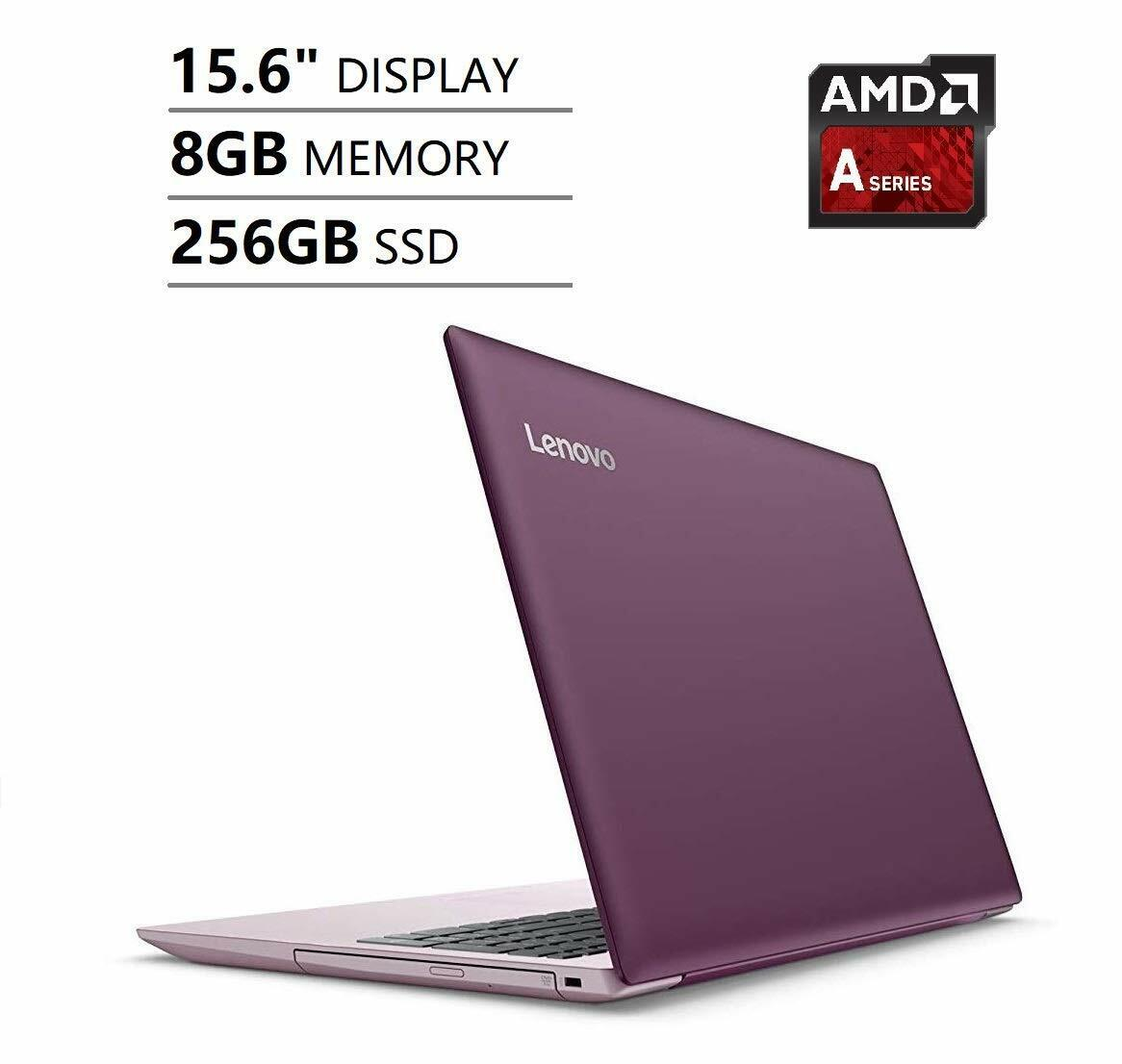 Laptop Windows - NEW Lenovo IdeaPad HD 15.6 Dual Core 3.10GHz 256GB SSD 8GB RAM Windows 10 Plum
