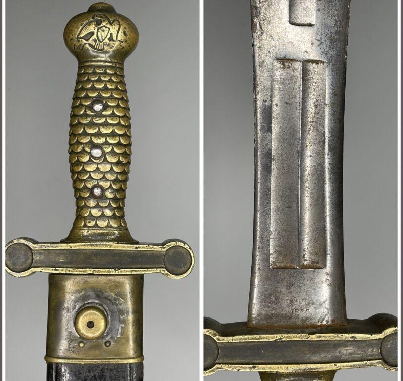 Original Ames 1832 Foot Artillery Sword Dated 1835 Pre Civil War Sword Short