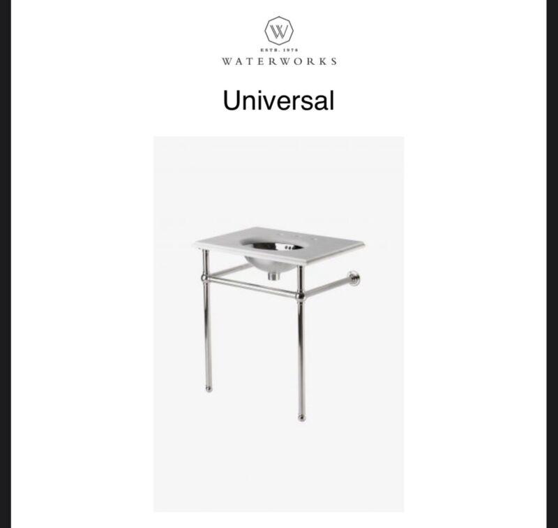 Waterworks Universal Metal Round Leg Washstand Unlackered Brass