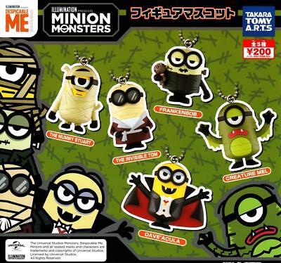 TTA Minion Monsters figure mascot Gashapon 5 set mini figure capsule toys (Monsters 5 Figure)