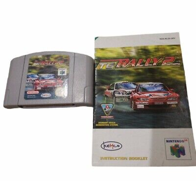 TG Rally 2 Top Gear N64 PAL EUR Version Not US Cartridge & Manual