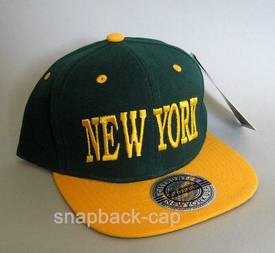 CITYHUNTER Cap USA New York Cap Green Baseball Hat Snapback cap city hunter