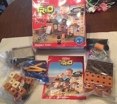 Fisher Price Trio Bricks Sticks And Panels Western Town Easy Building Blocks