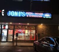 JONIS PIZZA & WINGS - Hiring Cook and driver