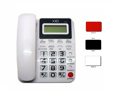 Telefono Fisso da TAVOLO HOTEL UFFICIO CASA DISPLAY CON TASTI GRANDI PER ANZIANI