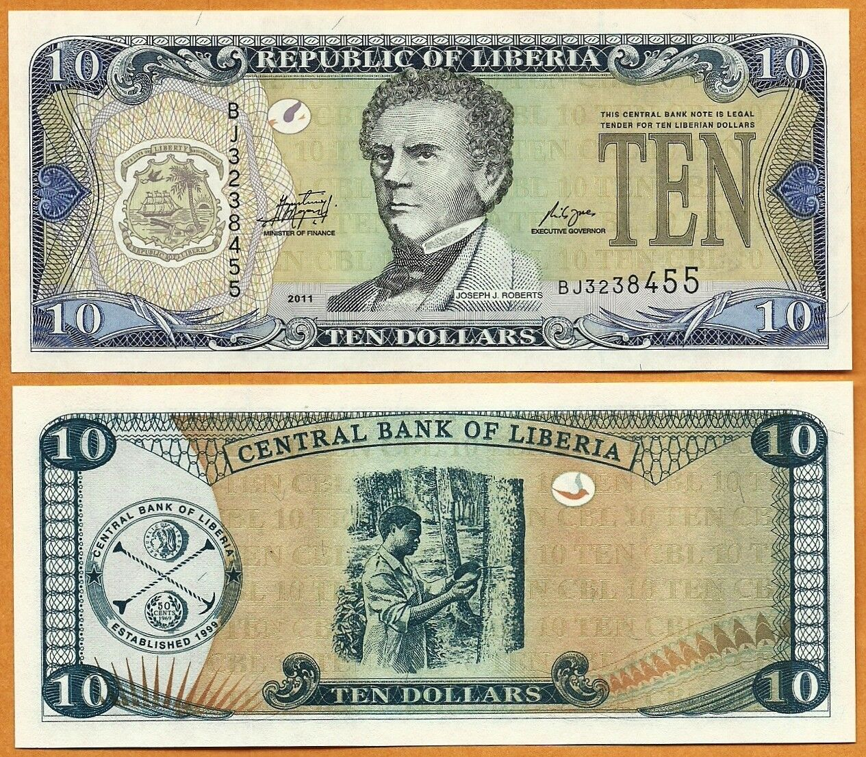 LIBERIA 2017 20 DOLLARS UNC MINT  BANKNOTE PAPER MONEY CURRENCY BILL NOTE