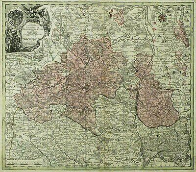 BAYERN - FRANKEN - Lotter/Seutter - Kupferkarte koloriert 1760