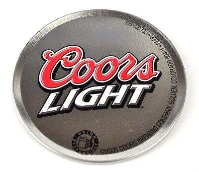 Coors Light Bier USA Metall Kork Bierdeckel Untersetzer Coaster