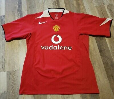 Manchester United 2004/2005/2006 Size L Home Nike shirt jersey football soccer image
