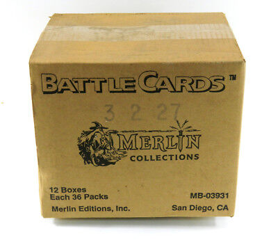 1993 Merlin Collection Battle Cards Combat Fantasy Game Case (12 Boxes)