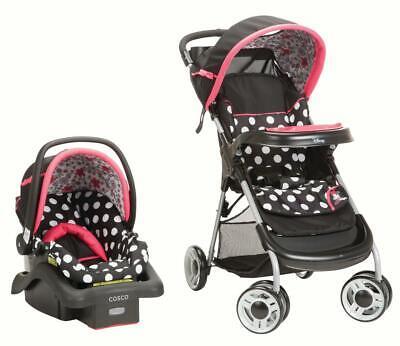 Baby Car Seat Stroller Combo Set Kids Safety Travel System Infant with Canopy, usado comprar usado  Enviando para Brazil