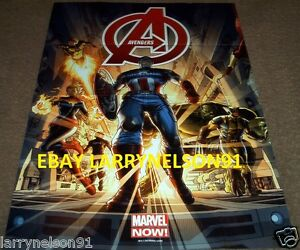 AVENGERS-PROMO-POSTER-CAPTAIN-AMERICA-WOLVERINE-HULK-MS-MARVEL-COMICS-FALCON-NOW