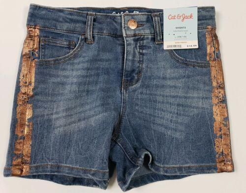 Cat & Jack Girl's Shorts Denim Sizes 4/5 to 14/16 Blue Snap