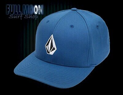 New Volcom Full Stone Blue Mens X-Fit Flex Fit Cap Hat (Mens Full Stone)