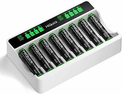HiQuick - Akku Ladegerät  - Platz für 8 Stück - für Mignon AA Batterien NEU