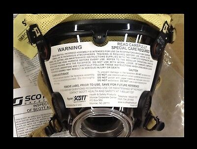 New Scott Av2000 Av-2000 Kevlarharness Firefighter Scba Mask Facepiece Large