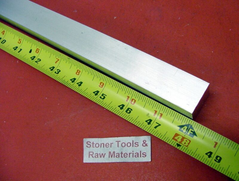 "1"" X 1"" ALUMINUM 6061 SQUARE BAR 48"" long T6511 1.000"" Solid New Mill Stock"