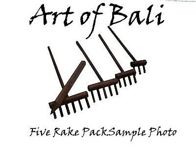 Desktop Zen Garden Five Rake Pack - Art of Bali Original rakes