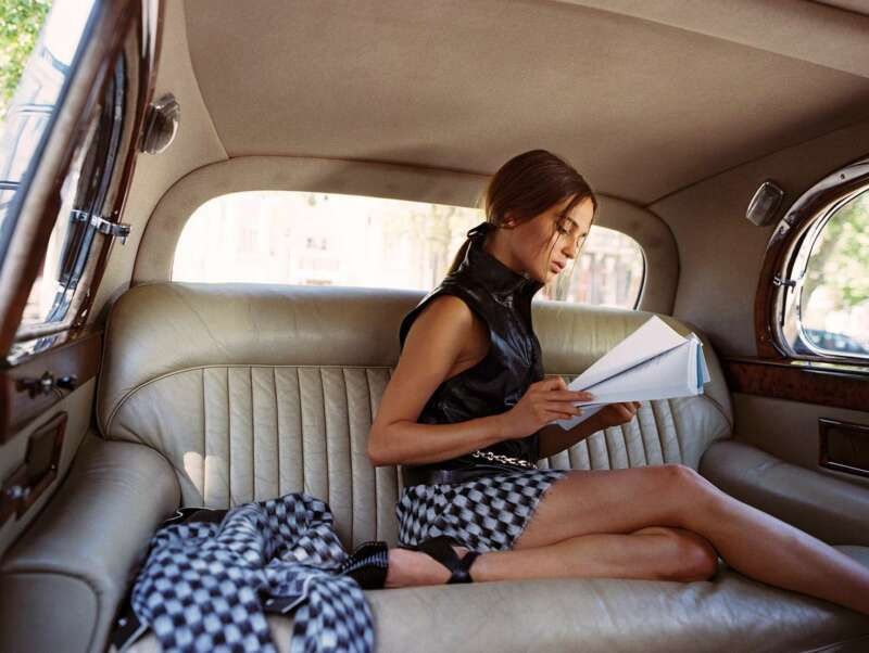 Alicia Vikander Reading Inside The Car 8x10 Photo Print