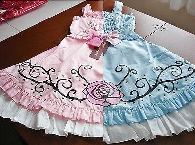 Bodyline Sweet Lolita Thorny Rose Bustle Back Jsk Dress Pink Or Blue Size M Nwt