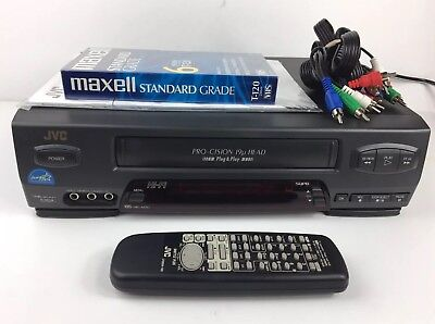 JVC VCR HI-Fi Stereo VHS Video Recorder w Remote + Extras HR-A51U Tested Bundle ()