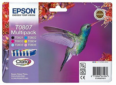 EPSON Tintenpatronen T0807 Multipack C13T08074011 original OVP Tintenpatrone NEU online kaufen