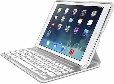 Belkin QODE Ultimate Pro Tastatur + Schutz Hülle Stand Weiss für Apple iPad Air ()