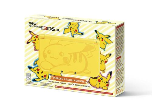Nintendo 3DS XL Pikachu Edition 4GB Yellow Handheld System NEW