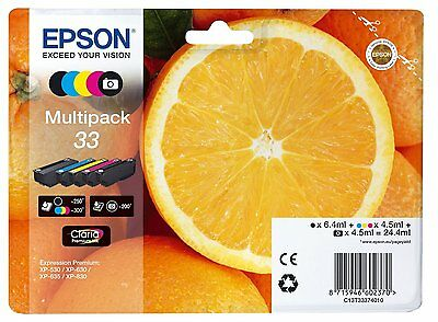 Epson Original 33 Multipack 5x Tinte Expression Premium XP530 XP630 XP635 XP830
