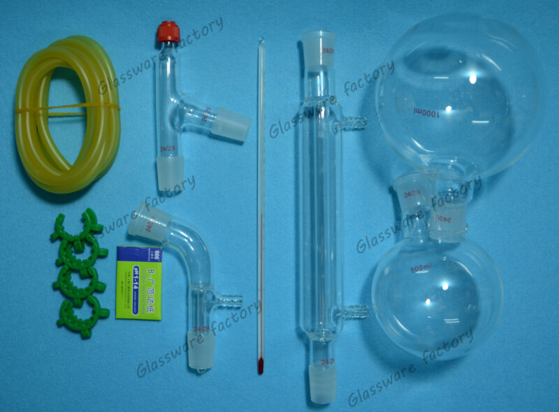 1000ml,24/29,Distillation Apparatus,Laboratory Glassware Kit,lab glassware kit