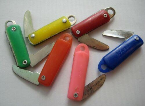 VINTAGE Plastic Metal Blade POCKET KNIFE Gumball Charm Prize Lot