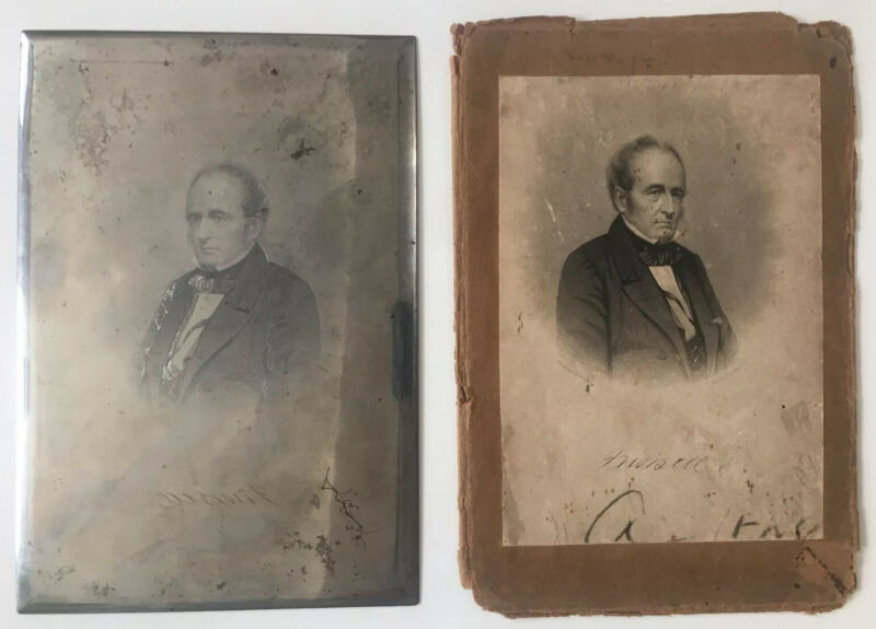 James Sewall Morsell Judge/Lawyer Represented Slaves Steel Etched Print Plate