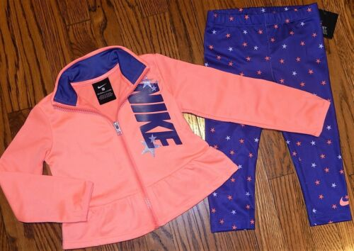NIKE ORIGINAL TODDLERS GIRLS 2Pc SET AUTHENTIC BRAND NEW SPORT SUIT Size 2T, NWT