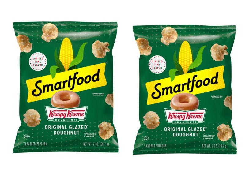 2 Bags Smartfood Popcorn Krispy Kreme Doughnuts Limited Edition Bag 2oz Each NEW